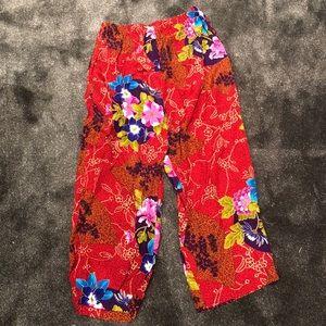 Vibrant vintage summer pants